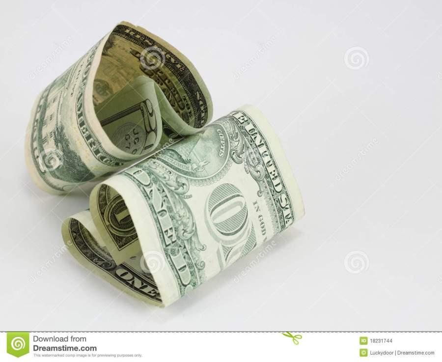 dos-cuentas-de-dólar-de-la-corazón-dimensión-de-una-variable-18231744